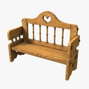 Bench Romantic 3d model