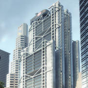 HSBC bank 3d model