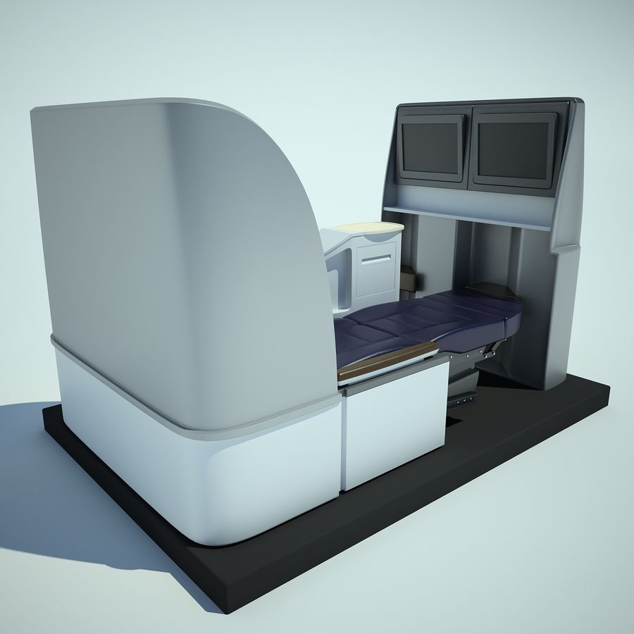 Seat Airplane Business Class 01 royalty-free 3d model - Preview no. 7