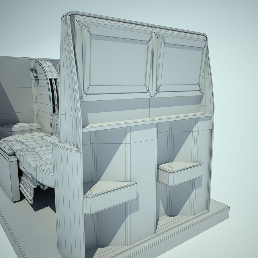 Seat Airplane Business Class 01 royalty-free 3d model - Preview no. 13