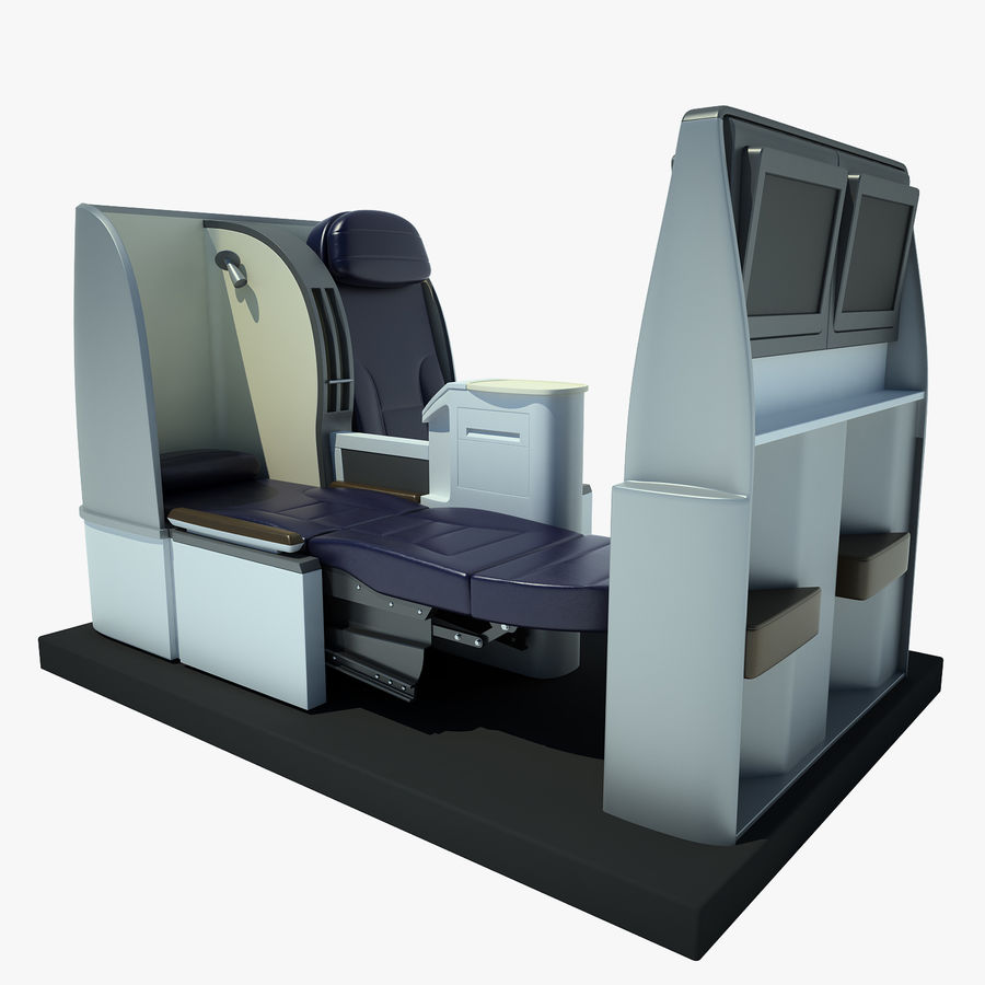 Seat Airplane Business Class 01 royalty-free 3d model - Preview no. 1