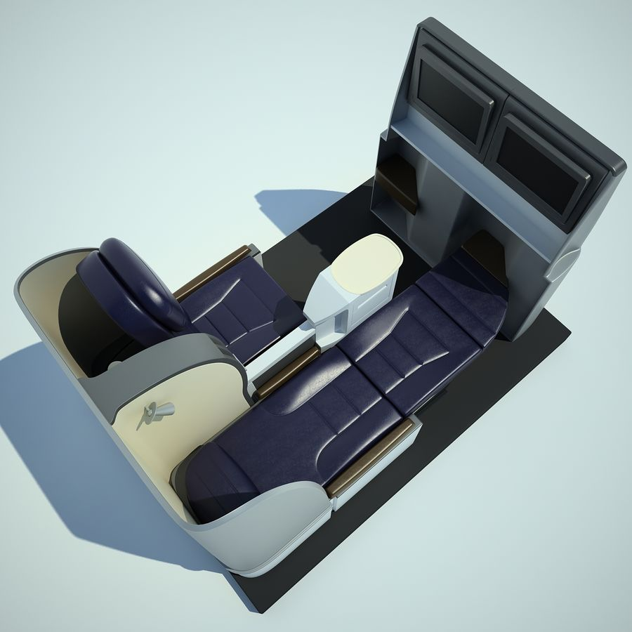 Seat Airplane Business Class 01 royalty-free 3d model - Preview no. 9