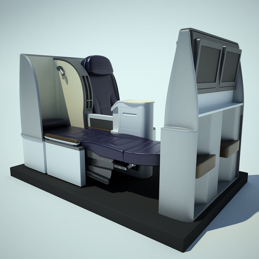 Seat Airplane Business Class 01 royalty-free 3d model - Preview no. 2