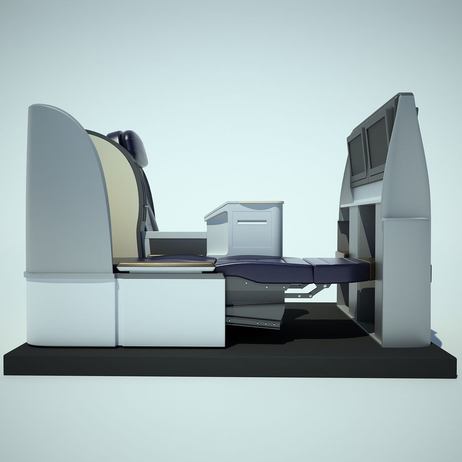 Seat Airplane Business Class 01 royalty-free 3d model - Preview no. 5