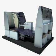 Sitz Flugzeug Business Class 01 3d model