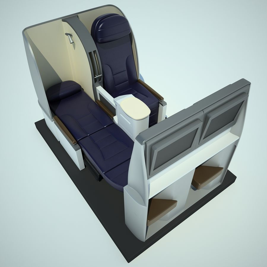 Seat Airplane Business Class 01 royalty-free 3d model - Preview no. 11
