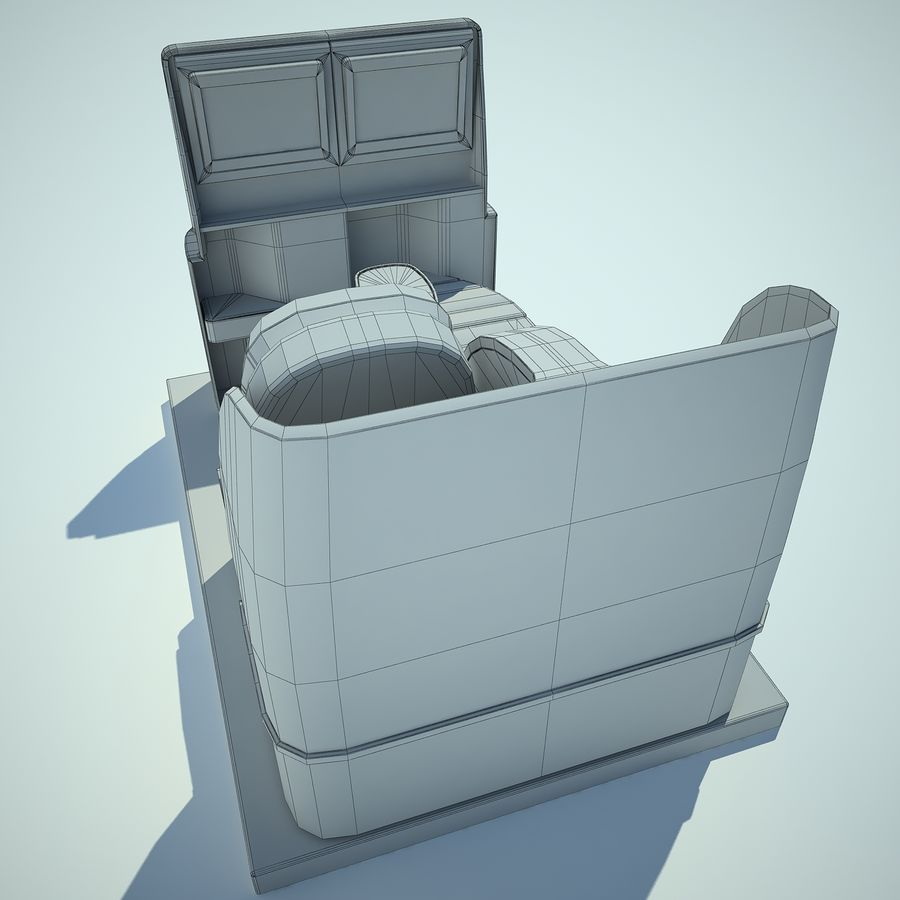 Seat Airplane Business Class 01 royalty-free 3d model - Preview no. 17