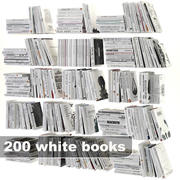 ensemble de livres blancs 3d model
