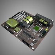 Placa-mãe Asus-like 3d model