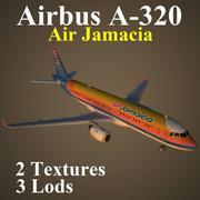A320 AJM 3d model