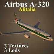 A320 AZA 3d model