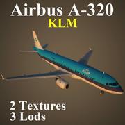 A320 KLM modelo 3d