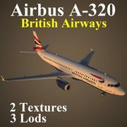 A320 BAW modelo 3d