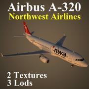 A320 NWA modelo 3d
