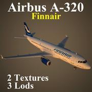 A320 FIN 3d model