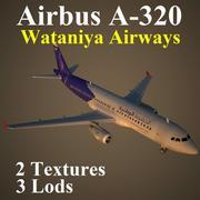 A320 WAN modelo 3d