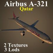 A321 QTR 3d model