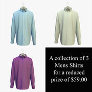 Mens Shirts on a Hanger Collection 3d model
