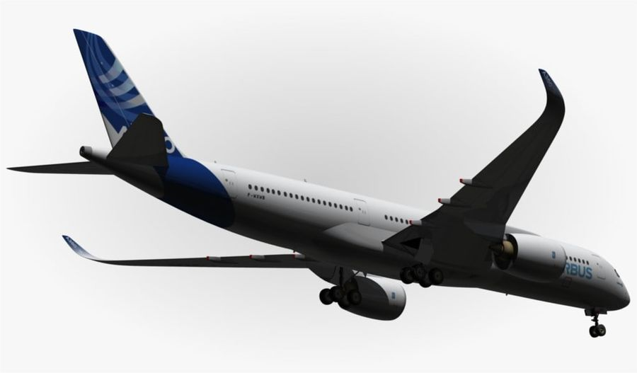 Airbus A350-900 XWB royalty-free 3d model - Preview no. 13