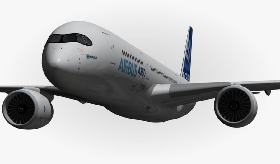 Airbus A350-900 XWB royalty-free 3d model - Preview no. 7
