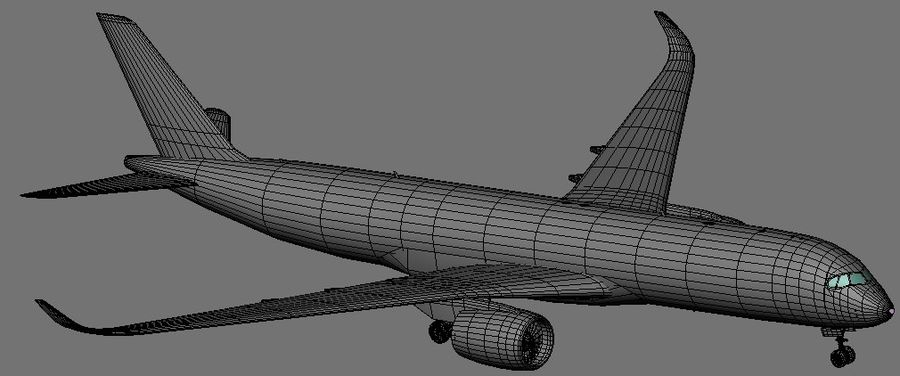 Airbus A350-900 XWB royalty-free 3d model - Preview no. 17