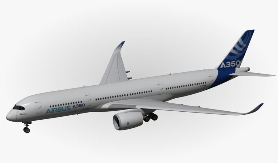 Airbus A350-900 XWB royalty-free 3d model - Preview no. 10