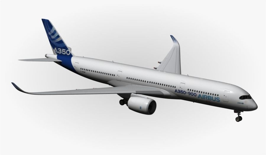 Airbus A350-900 XWB royalty-free 3d model - Preview no. 15
