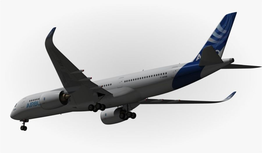Airbus A350-900 XWB royalty-free 3d model - Preview no. 12