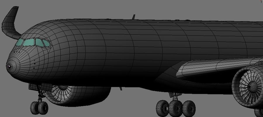 Airbus A350-900 XWB royalty-free 3d model - Preview no. 19