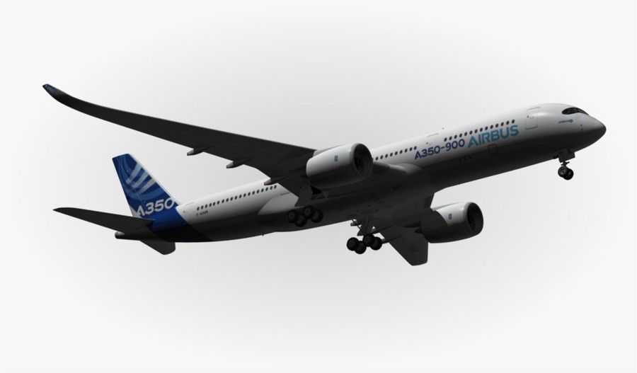 Airbus A350-900 XWB royalty-free 3d model - Preview no. 16