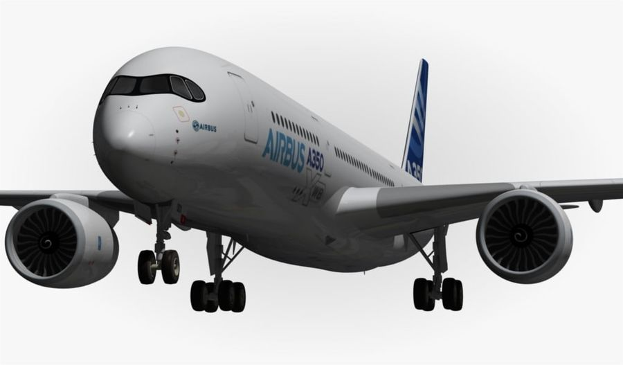 Airbus A350-900 XWB royalty-free 3d model - Preview no. 6