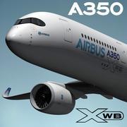 Airbus A350-900 XWB 3d model