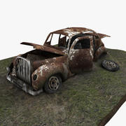 Junkyard Car 3d model