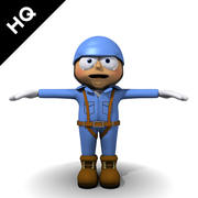 trabajador de carácter modelo 3d