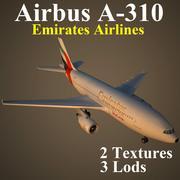 A310 UAE 3d model