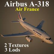 A318 AFR 3d model