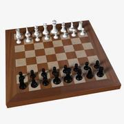 Plastic Chess 3d model