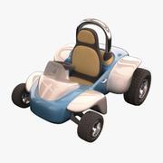 Cartoon Race Car 3d model