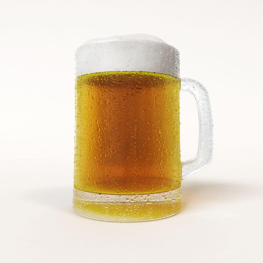 Vaso de cerveza royalty-free modelo 3d - Preview no. 2