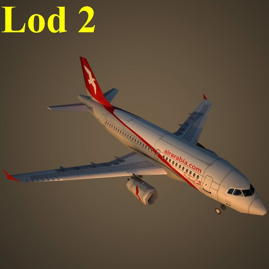 A319 ABY royalty-free 3d model - Preview no. 15