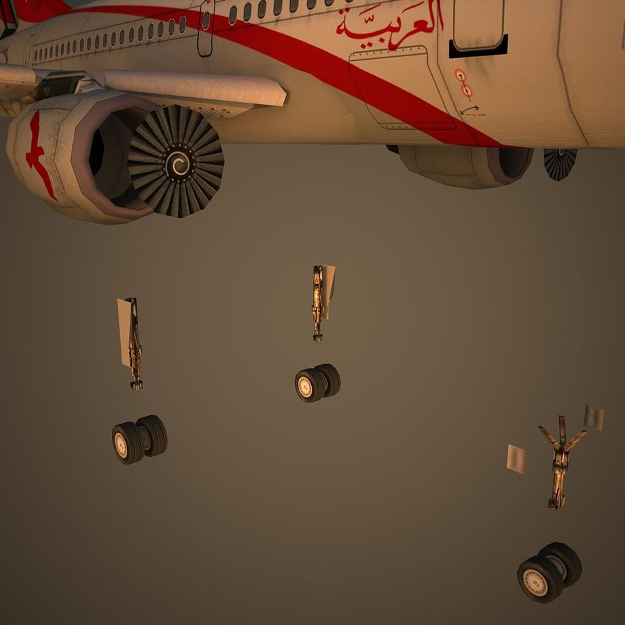 A319 ABY royalty-free 3d model - Preview no. 10