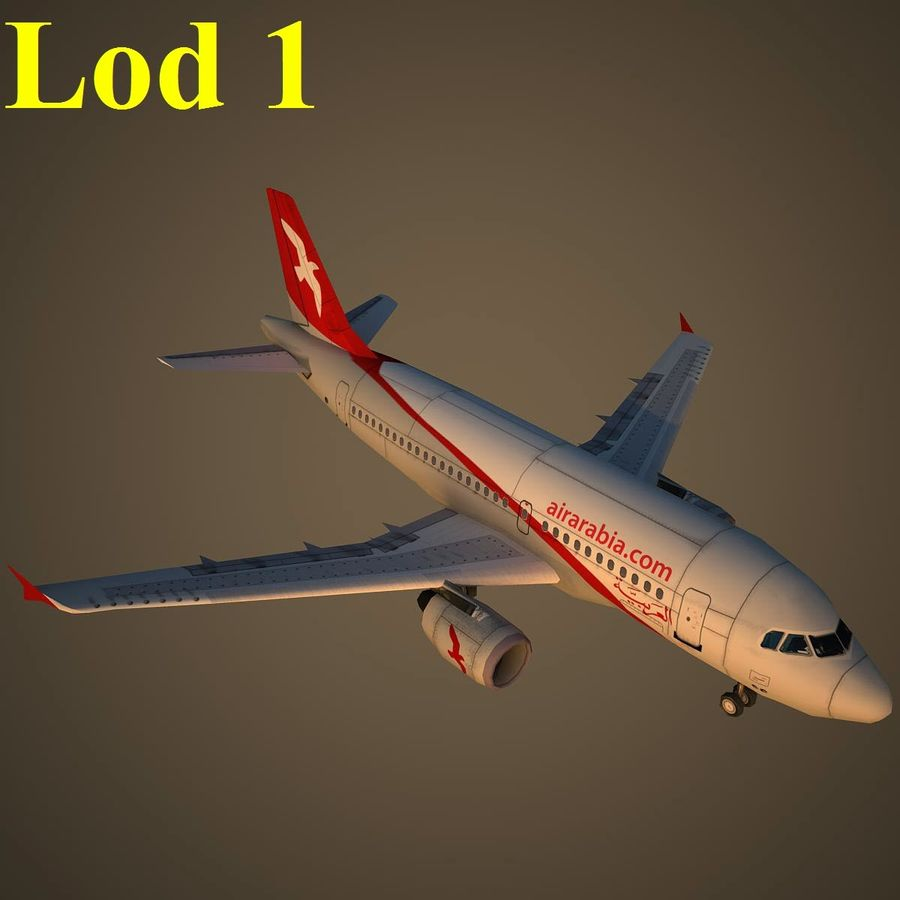 A319 ABY royalty-free 3d model - Preview no. 14