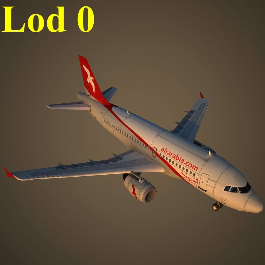 A319 ABY royalty-free 3d model - Preview no. 13