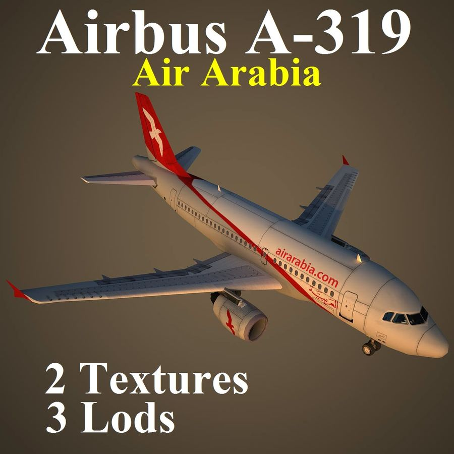 A319 ABY royalty-free 3d model - Preview no. 1