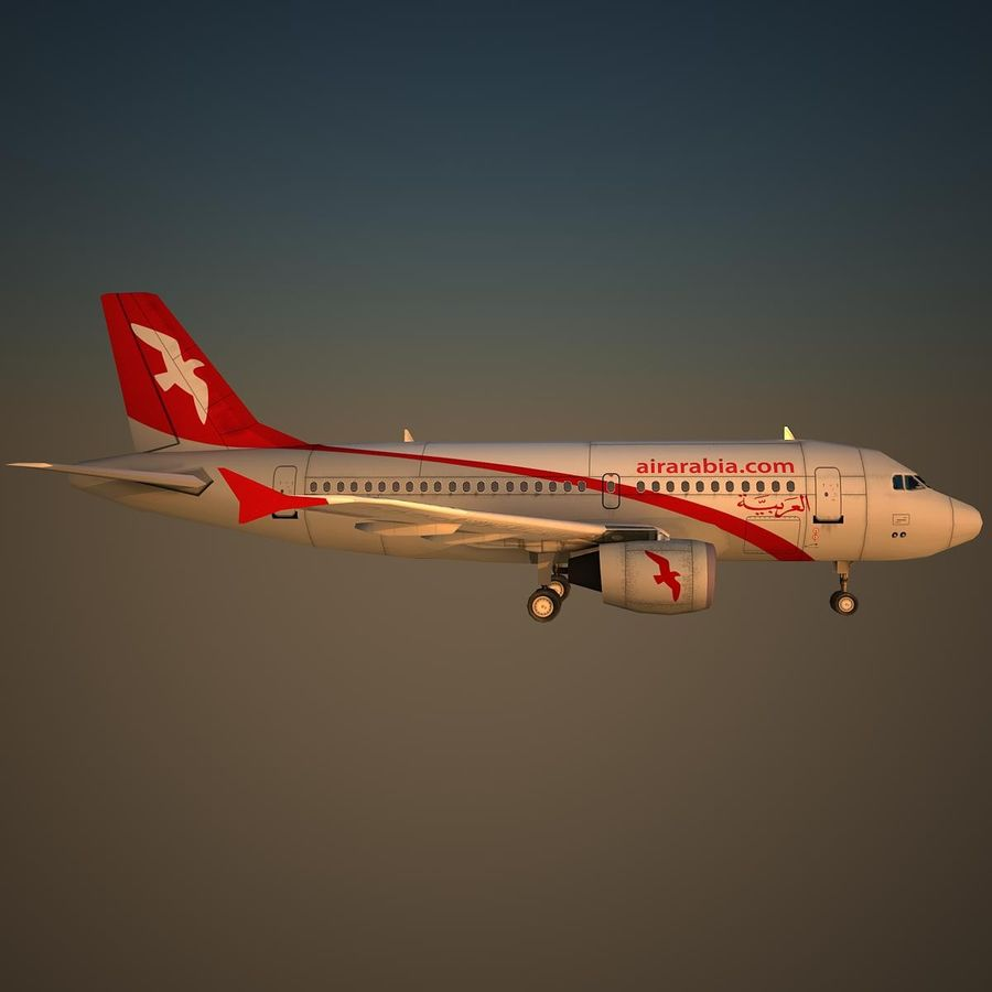 A319 ABY royalty-free 3d model - Preview no. 3