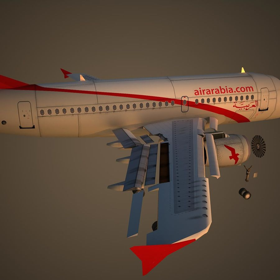 A319 ABY royalty-free 3d model - Preview no. 11