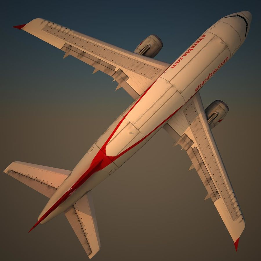 A319 ABY royalty-free 3d model - Preview no. 5