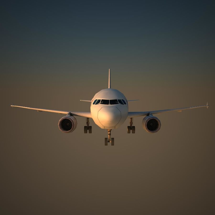 A319 AFR royalty-free 3d model - Preview no. 2
