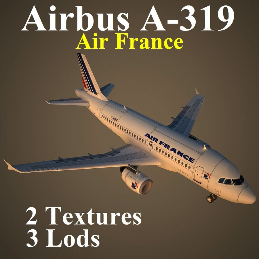 A319 AFR royalty-free 3d model - Preview no. 1