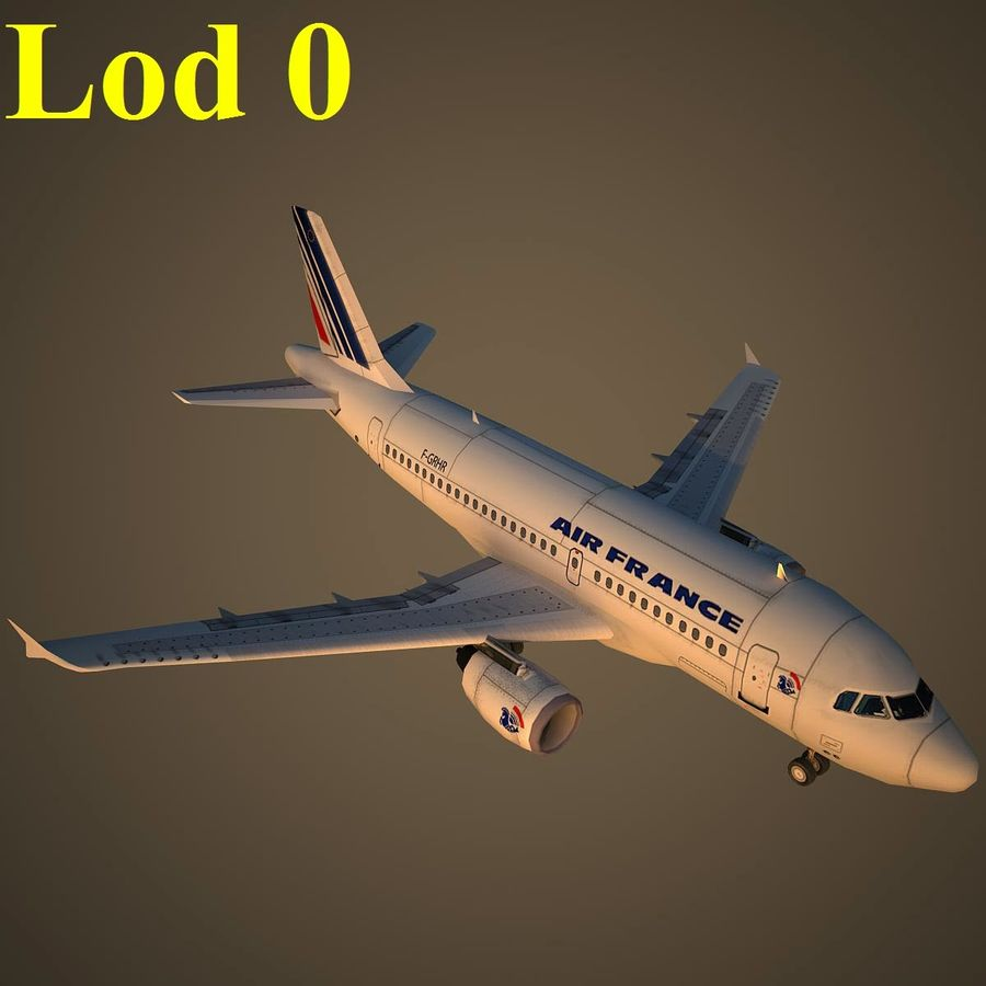 A319 AFR royalty-free 3d model - Preview no. 13